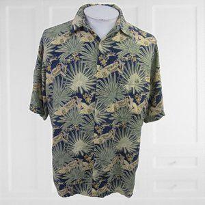 Campia Moda vintage Men Hawaiian camp shirt L